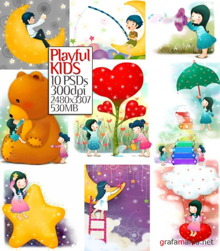 10 Playful Kids-PSD Part-1