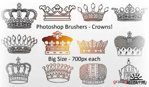 Royalty Crowns Brushes