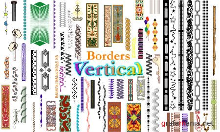 Vector Clipart Collection: Borders - Vertical