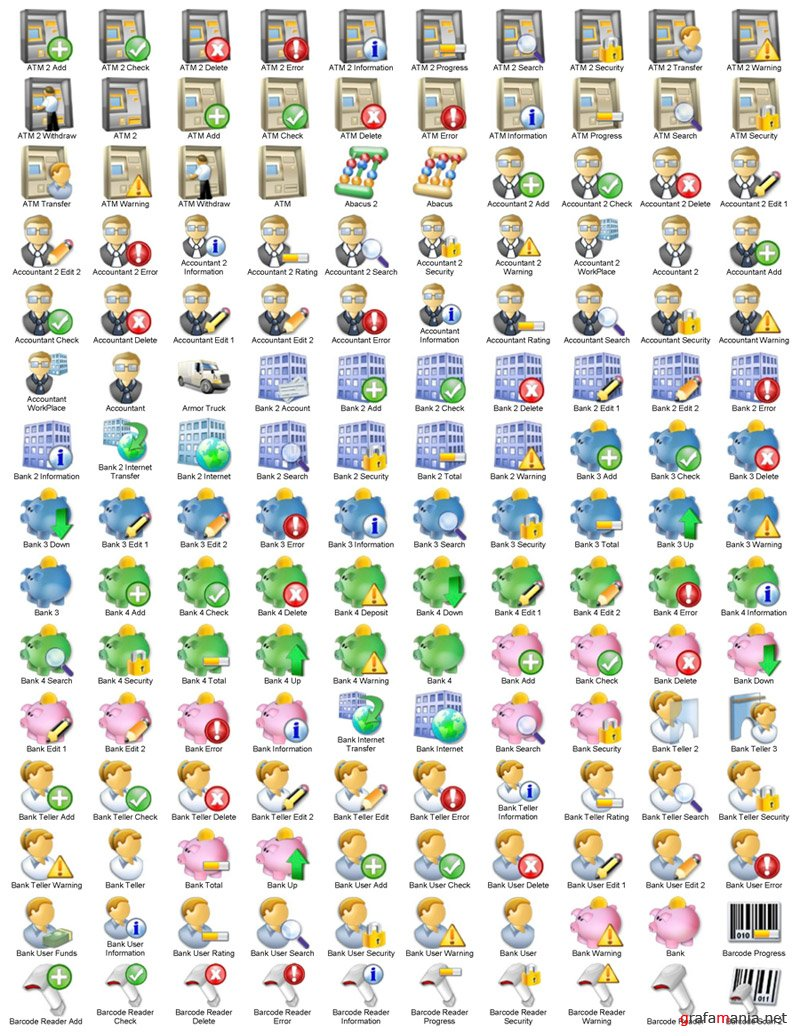 ��������� ������. ������� ������ (Accounting Icons Collection) V1.0