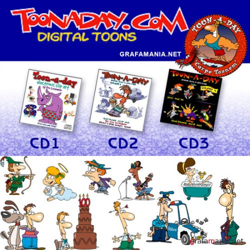 Toon-A-Day Vectoral Toons - 3 CD