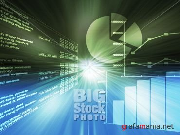 Big Stock Photo - Spreadsheet charts and Springtime