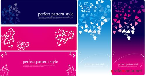 Vector Banners - Perfect Pattern Style and Flower Romantic