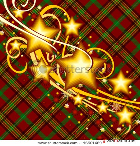 ShutterStock Vector Mix - Frame with Flowers and Stars