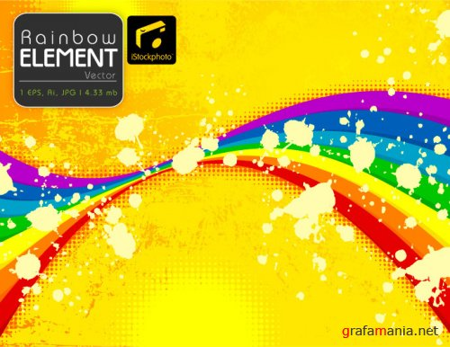 iStock - Rainbow Element Vector