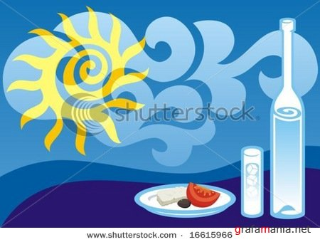 Business and industry logos / Greek summer background