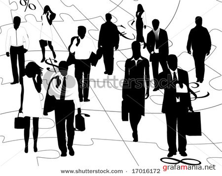 Illustration of business people at lecture
