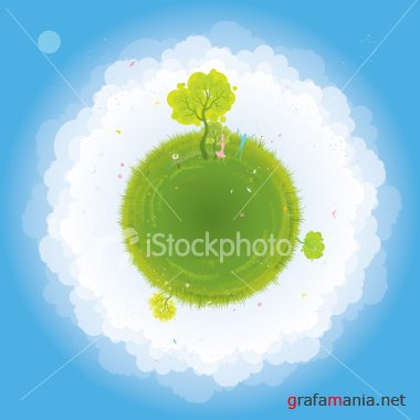Green Planet Vector [iStockPhoto]