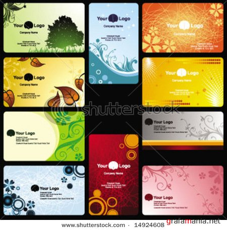 Business Cards Design Vectors