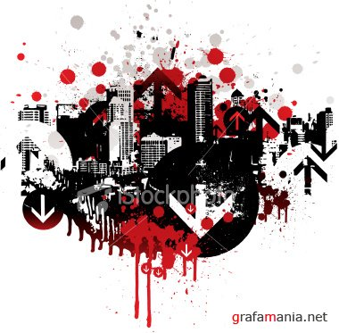 Stock Vector: City Grunge