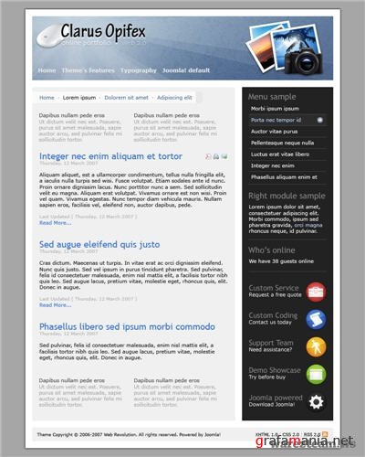WR Clarus Opifex - Joomla Template