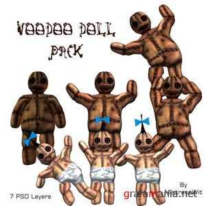 Vooodoo doll pack for PhotoShop