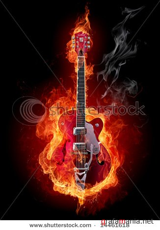 ShutterStock - Guitar on fire