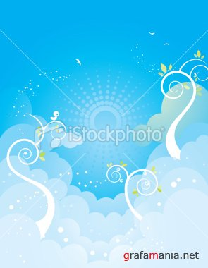 iStock - blue sky background