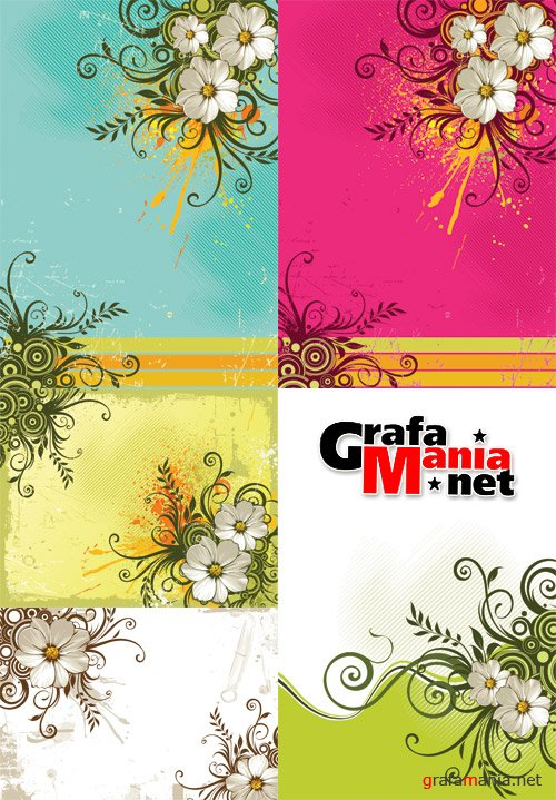 Shutterstock Vector MixMania 05 - Flowers Background