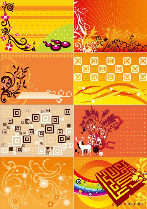 Orange Vector Backgrounds