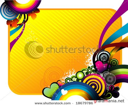 Stock Vector Illustration: circles vector background