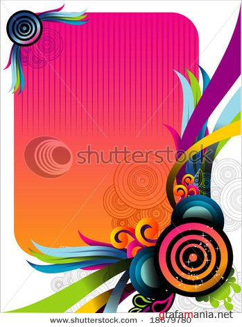 Circles vector background 4