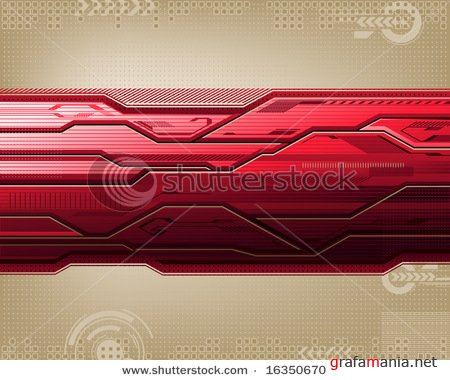 Futuristic abstract background, in red tones.