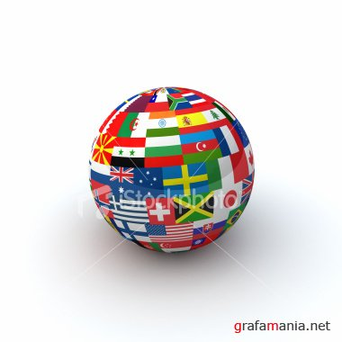 2 AMAZING SS & ISTOCK STOCK JPG : Strawberry covered by hot chocolate  &  World Flags Sphere