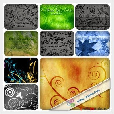 Nature And Floral Brush Set III
