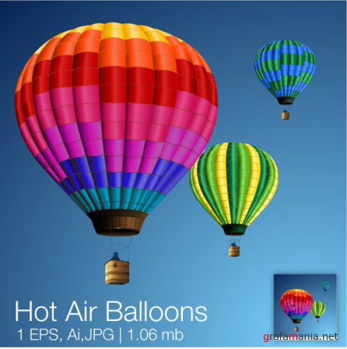 SS Hot Air Balloon Vector