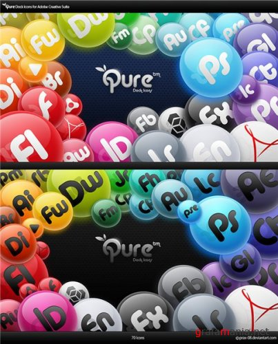Qure Dock Icons - Adobe CS3, CS4