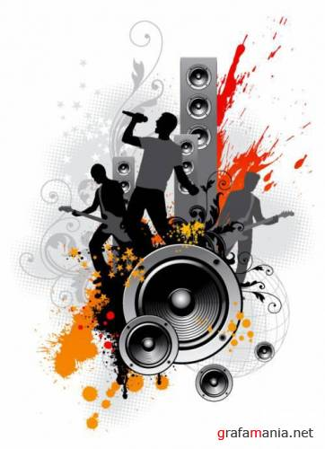 Music vector clipart pack