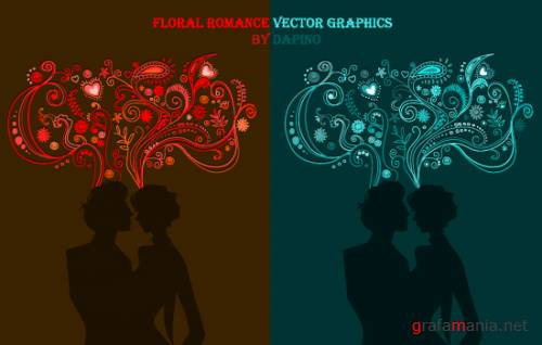 Floral Romance Vector Graphics