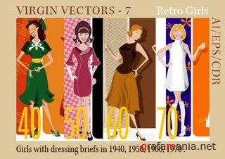 Virgin Vectors 07- Retro Girls