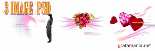 IMAGE PSD - Love & Flowers