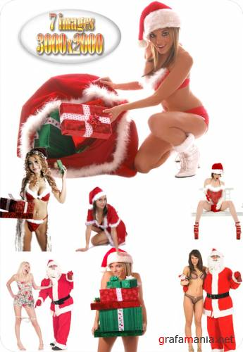 HQ Images - Santa and Sexy Girl