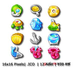 Sea Products Icons