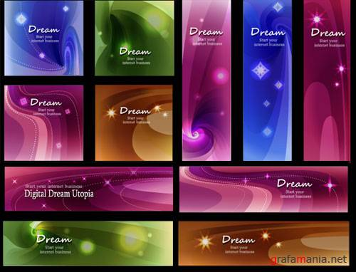 Dreams vector cards
