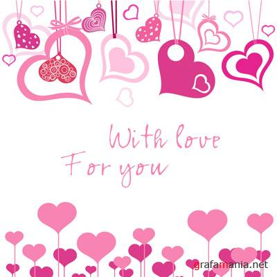 Pink Love Illustrator Vector