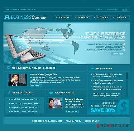TM 9475 Business Company Web Template