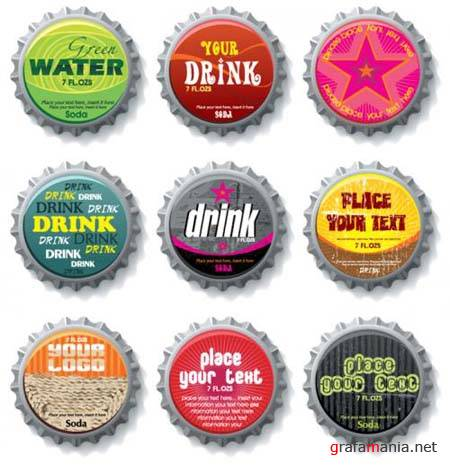 Bottle Caps - Vector Set