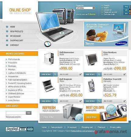 TM 9587 Online Shop Web Template