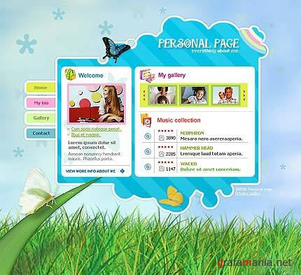TM 9716 Personal Page Web Template