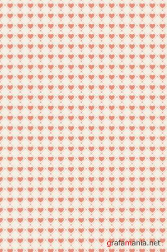 Заливки для Photoshop - Valentine Patterns