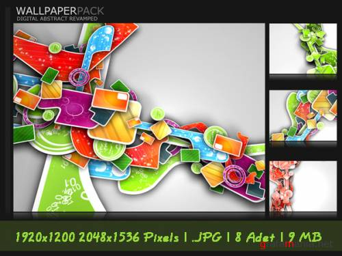 Exclusive Wallpaper Digital 3D Abstract
