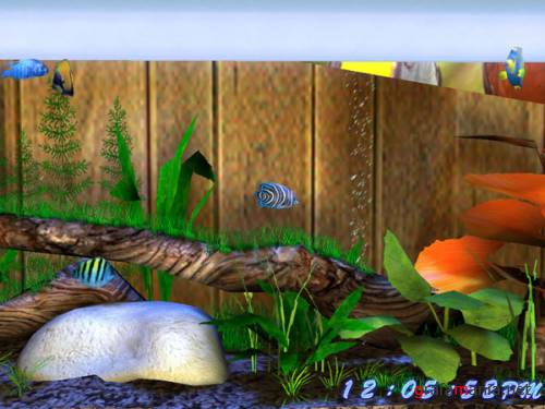 3D Bungalow Aquarium Screen Saver