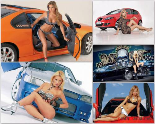 Cars With Hot Girls Wallpapers (Part 1)