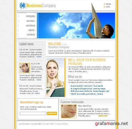 TM 8109 Business Company Web Template