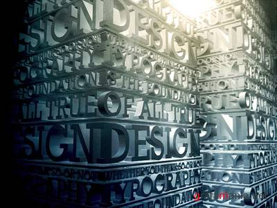 47 Wonderful 3D Typography That Truely Inspires
