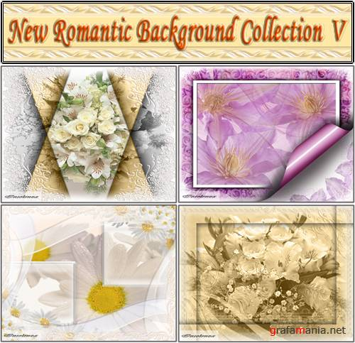 New Romantic Background Collection V (PSD)