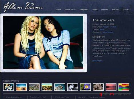 Album V2.0 - Wordpress Theme