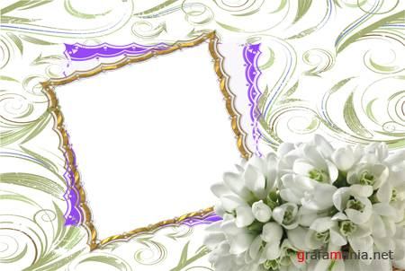 Рамка PNG – Snowdropframe