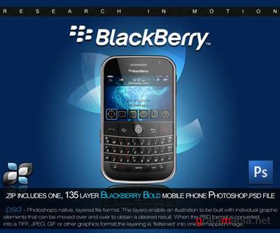 Blackberry Mobile PSD Template