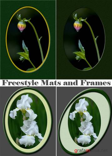 Freestyle Mat and Frame Actions for Photoshop